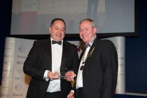 Best Broker Munster- Complete Financial's Bill Anderson with IBA President John Bissett
